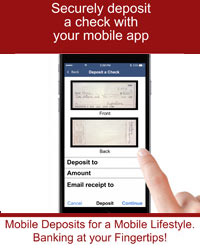 Securely deposit a check with your mobile app.